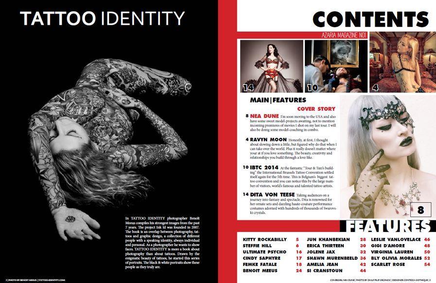 Azaria Magazine No.1 Contents