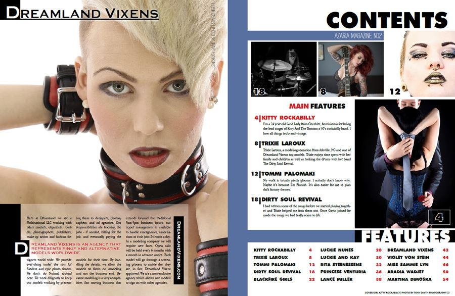 Azaria Magazine No.2 Contents