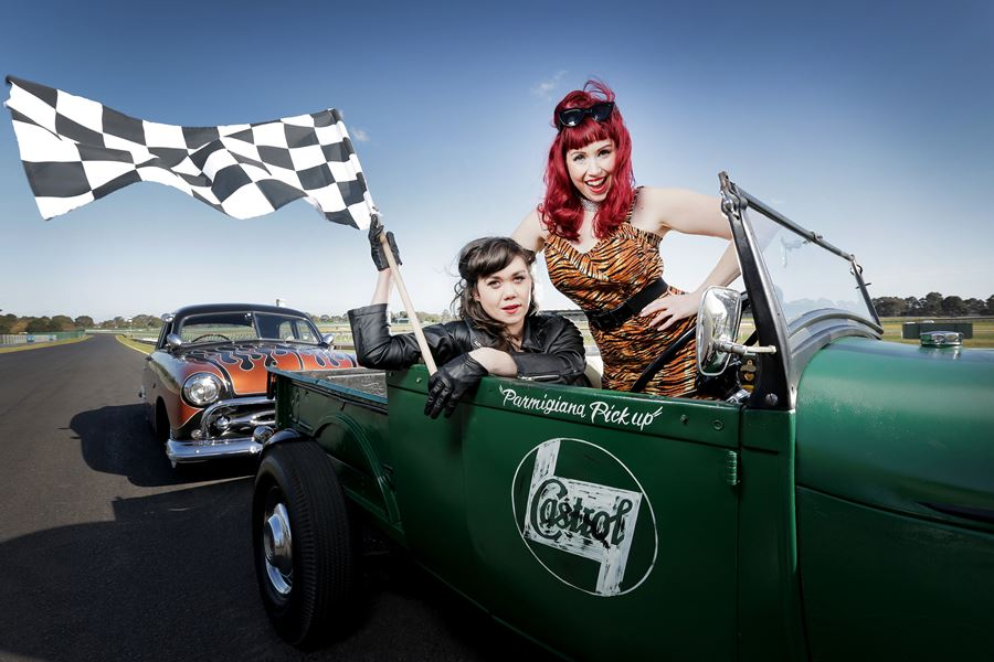 Lucky Dip And Miss Kiri GreazeFest Kustom Kulture Festival Photo by Nicole Cleary Future Vintage