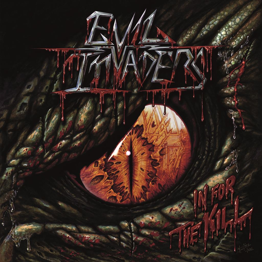 EVIL INVADERS In For The Kill Album Cover