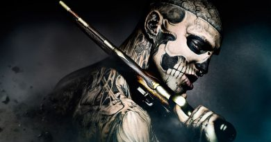 Before he had any tattoos, Zombie Boy was diagnosed with a brain tumor
