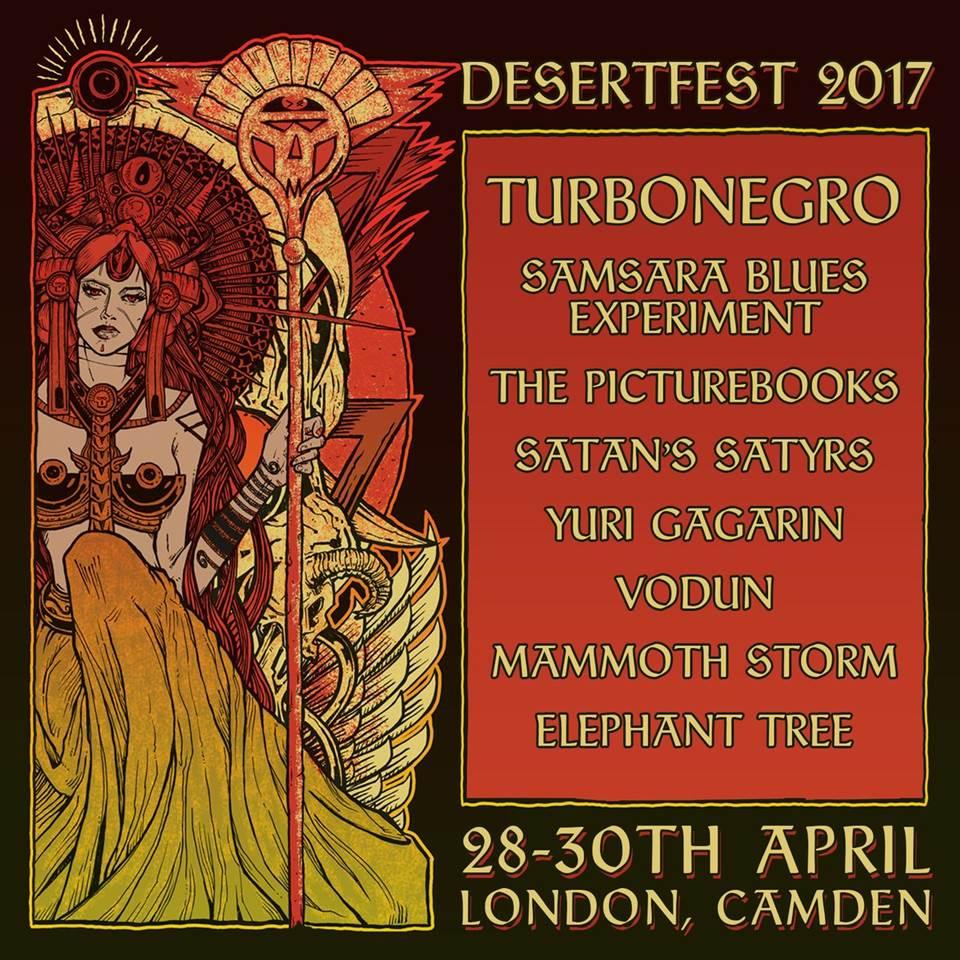 Desertfest 2017 Camden London Poster