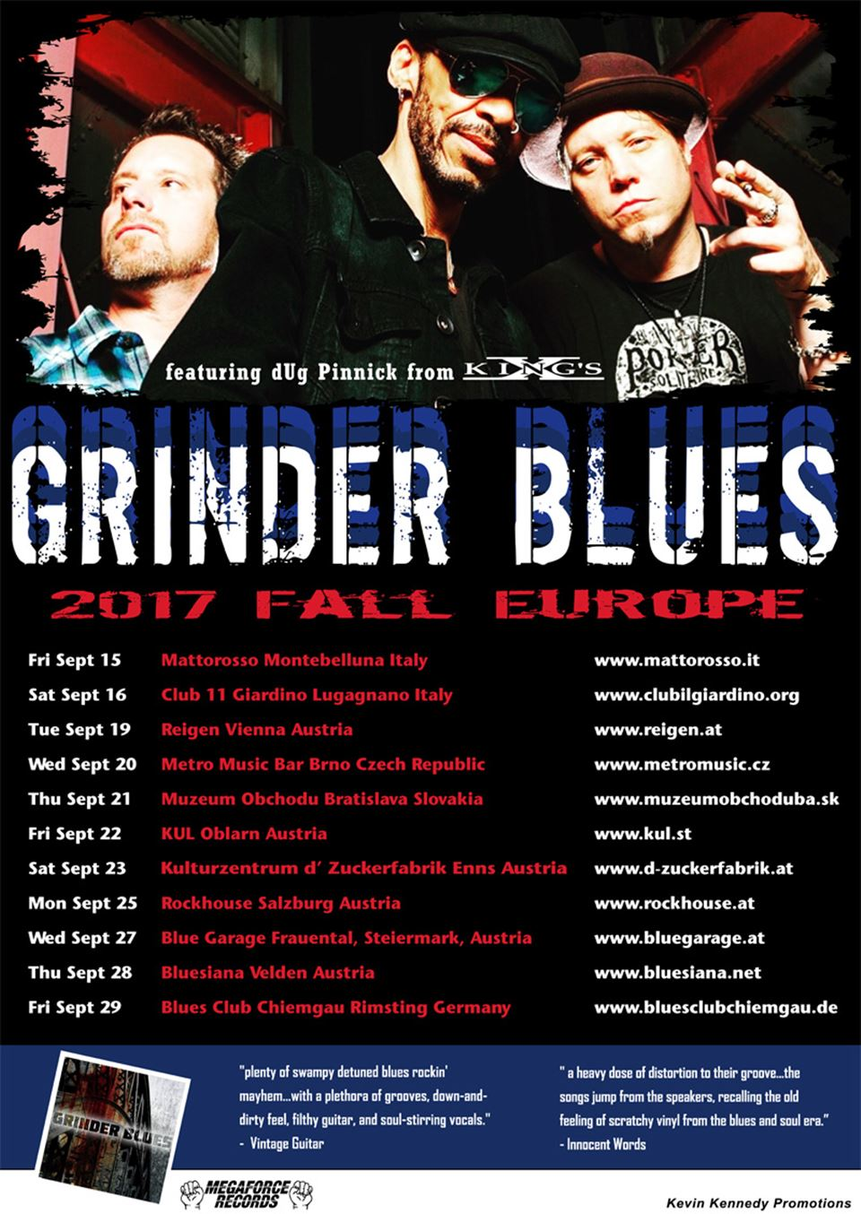 Grinder Blues 2017 Europe Tour