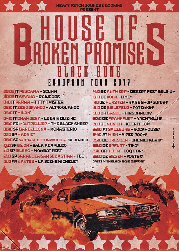 House of Broken Promises Black Bone European Tour 2017