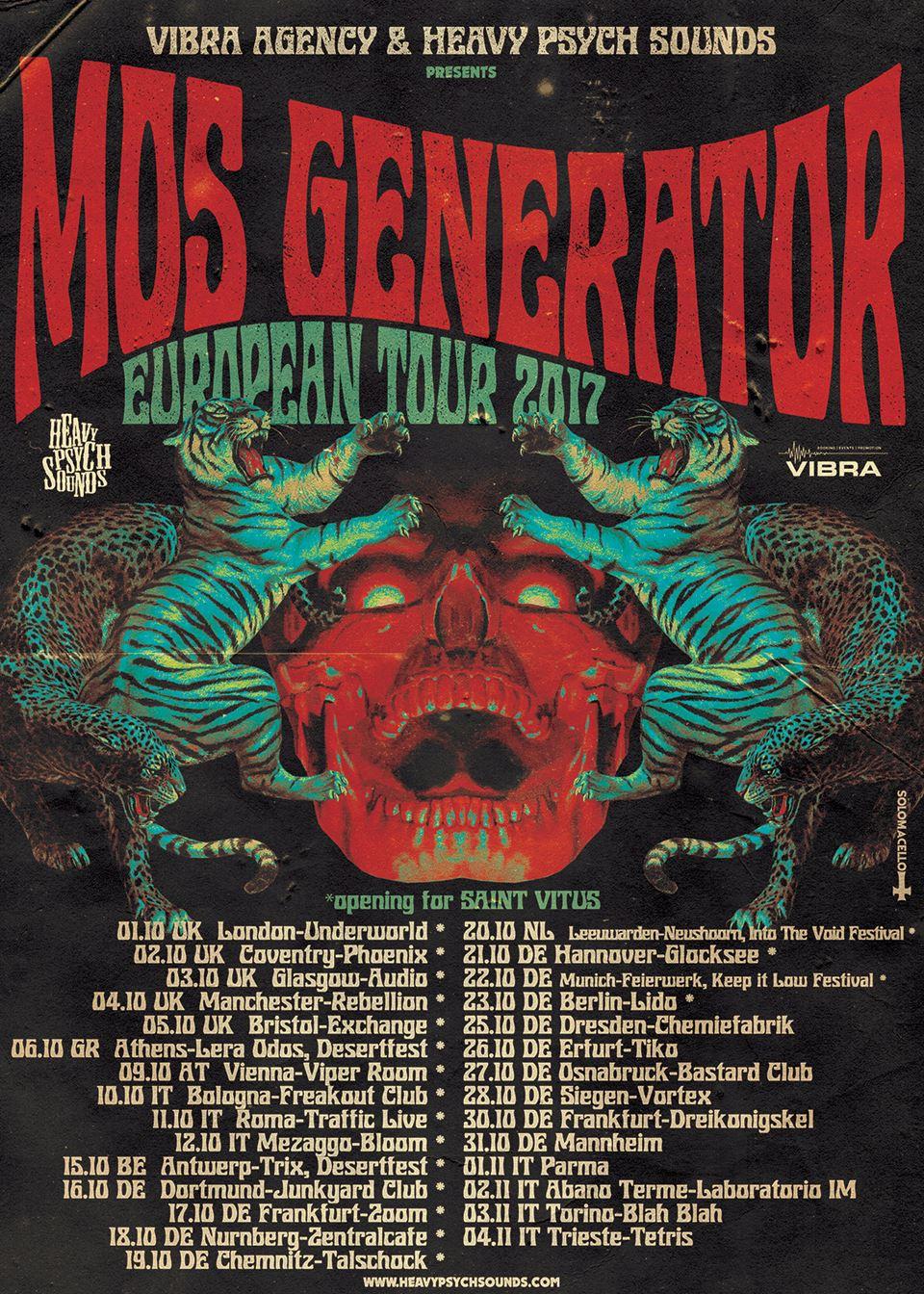Mos Generator 2017 Tour