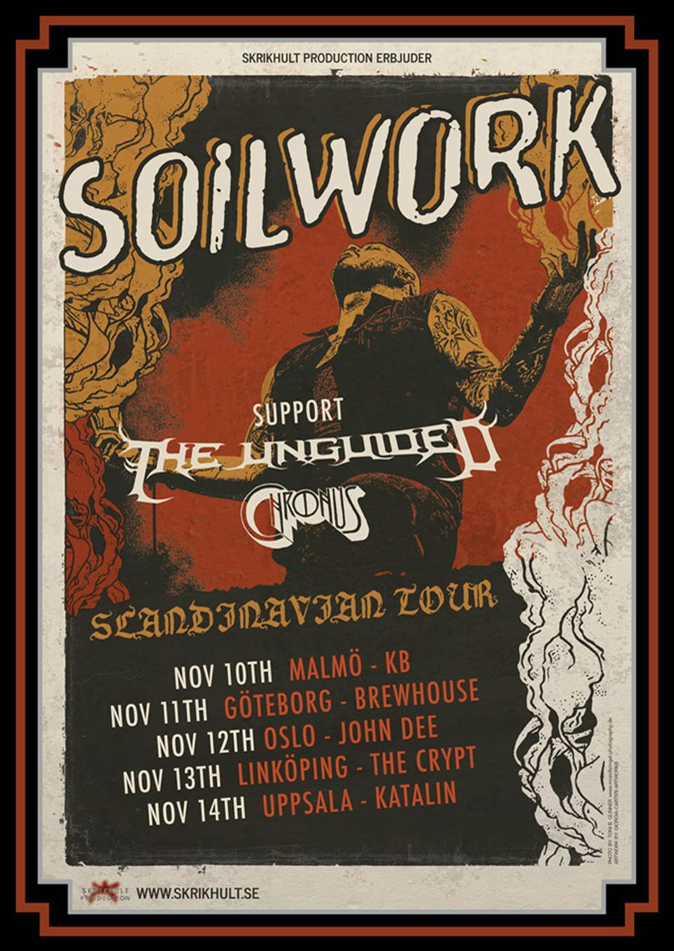 Soilwork And Chronus Tour 2017